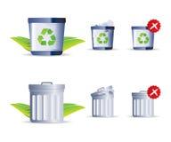 Icona dei rifiuti Fotografie Stock Libere da Diritti
