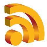 icona dei rss 3d Immagine Stock Libera da Diritti