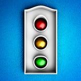 Icona dei semafori Immagini Stock