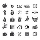 Icona dei soldi Fotografia Stock