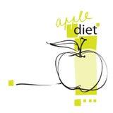 Icona del Apple, disposizione (sul concetto di dieta) Fotografie Stock Libere da Diritti