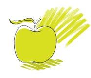 Icona del Apple, illustrazione di disegno a mano libera Fotografie Stock Libere da Diritti