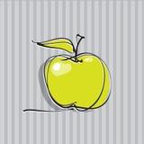 Icona del Apple, illustrazione di disegno a mano libera   Fotografie Stock