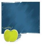 Icona del Apple, priorità bassa del grunge Immagine Stock Libera da Diritti