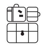 Icona del bagaglio Illustrazione piana di vettore Fotografie Stock Libere da Diritti