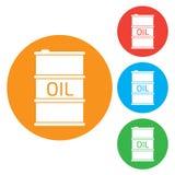 Icona del barile da olio o segno, illustrazione Icona di colore Immagine Stock