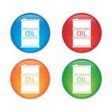 Icona del barile da olio o segno, illustrazione Icona di colore Fotografia Stock