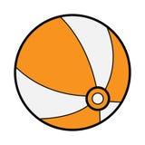 Icona del beach ball Immagini Stock Libere da Diritti