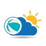 Icona del beach ball di progettazione di vacanze estive Fotografia Stock