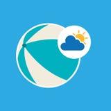Icona del beach ball di progettazione di vacanze estive Fotografie Stock Libere da Diritti