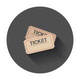 Icona del biglietto Immagine Stock