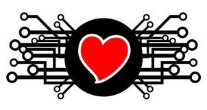 Icona del biglietto di S. Valentino Immagini Stock Libere da Diritti
