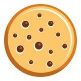 Icona del biscotto del papavero, stile piano royalty illustrazione gratis