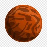 Icona del biscotto del pranzo di Choco, stile del fumetto illustrazione di stock