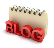 Icona del blocchetto per appunti e del blog 3D Immagine Stock