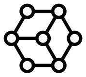 Icona del blockchain di vettore royalty illustrazione gratis