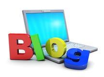 Icona del blog Fotografie Stock