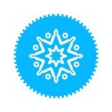 Icona del blu del fiocco di neve Icona pulita di progettazione di vettore immagini stock