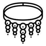 Icona del braccialetto della pietra preziosa, stile del profilo royalty illustrazione gratis