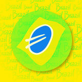 Icona del Brasile Immagini Stock Libere da Diritti