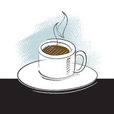 Icona del caffè, illustrazione di disegno a mano libera Fotografia Stock Libera da Diritti