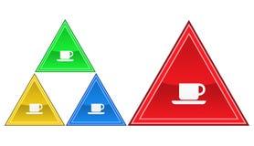 Icona del caffè, segno, illustrazione Immagine Stock Libera da Diritti