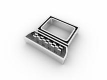 icona del calcolatore 3d Fotografie Stock