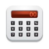 Icona del calcolatore di vettore Immagini Stock Libere da Diritti