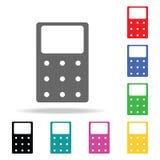 Icona del calcolatore Elementi nelle multi icone colorate per i apps mobili di web e di concetto Icone per progettazione del sito illustrazione vettoriale