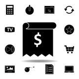 Icona del calcolatore I segni ed i simboli possono essere usati per il web, logo, app mobile, UI, UX illustrazione vettoriale