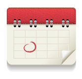 Icona del calendario Immagine Stock