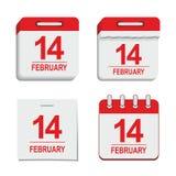 Icona del calendario del biglietto di S. Valentino royalty illustrazione gratis