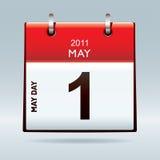 Icona del calendario di giorno di maggio Fotografia Stock