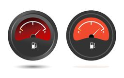 Icona del calibro di combustibile Fotografie Stock Libere da Diritti