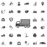 Icona del camion illustrazione di stock