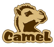 Icona del cammello Fotografia Stock Libera da Diritti