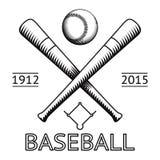 Icona del campo di Logo Symbol Bat Ball Game di baseball Fotografia Stock Libera da Diritti