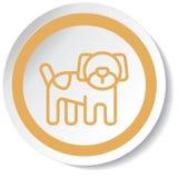 Icona del cane Fotografia Stock