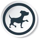Icona del cane Fotografie Stock