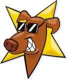 Icona del cane della stella Fotografie Stock