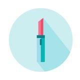 Icona del cappello del rossetto Bellezza ed accessori Fotografia Stock