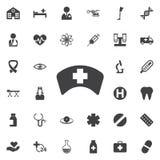 Icona del cappello dell'infermiere immagini stock