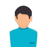 Icona del carattere dell'avatar di medico illustrazione vettoriale