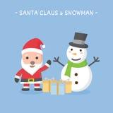Icona del carattere di Natale in cellulare Fotografie Stock