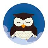 Icona del carattere di sonno del gufo royalty illustrazione gratis