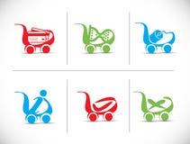 Icona del carrello di acquisto Fotografia Stock