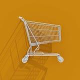 icona del carrello di acquisto 3d Immagini Stock Libere da Diritti