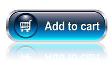 Icona del carrello di acquisto, tasto Immagini Stock