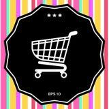 Icona del carrello, progettazione del cestino della spesa, icona del carrello Fotografia Stock