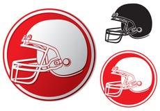 Icona del casco di football americano Immagini Stock
